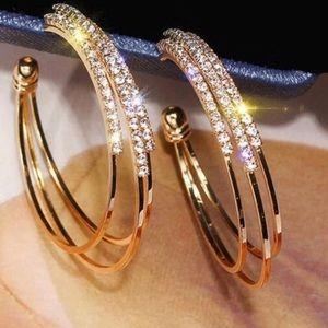 18K yellow gold plated hoop earrings